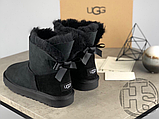 Женские угги UGG Mini Bailey Bow II Boot Black 1005062, фото 5