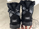Женские угги UGG Mini Bailey Bow II Boot Black 1005062, фото 6