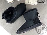 Женские угги UGG Mini Bailey Bow II Boot Black 1005062, фото 7