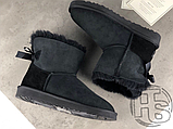 Женские угги UGG Mini Bailey Bow II Boot Black 1005062, фото 8