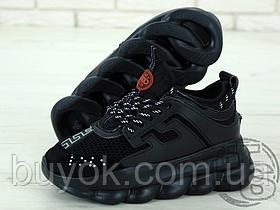 Жіночі кросівки Versace Chain Reaction 2 Triple Black DSU7071E.D7CTG-D41