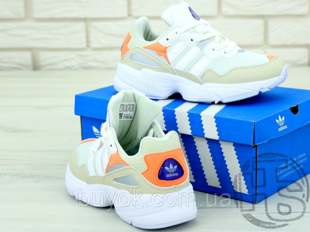 Жіночі кросівки Adidas Yung-96 White/Orange F97179