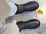 Жіночі чоботи UGG Classic Short Leather Boot Black 1016559, фото 3
