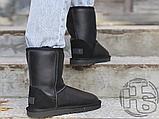Жіночі чоботи UGG Classic Short Leather Boot Black 1016559, фото 4