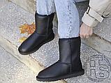 Жіночі чоботи UGG Classic Short Leather Boot Black 1016559, фото 5