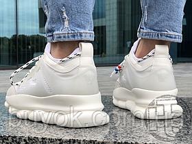 Жіночі кросівки Versace Chain Reaction White Mesh Rubber Suede DSU7071E D7CTG D01