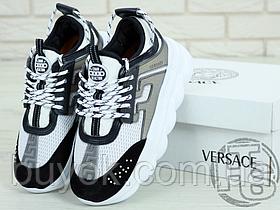 Жіночі кросівки Versace Chain Reaction White Grey Black DSR705G-D12VPG DSW