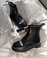 Зимние женские ботинки Dr. Martens 1460 Sex Pistols Black Rolled Smooth 25927001