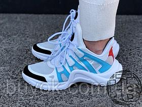 Женские кроссовки Louis Vuitton LV Archlight Sneaker White/Blue 1A43IT