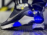 Мужские кроссовки Nike Hyper Adapt 1.0 EARL Black/White/Blue 843871-001, фото 3