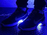 Мужские кроссовки Nike Hyper Adapt 1.0 EARL Black/White/Blue 843871-001, фото 6