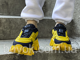Женские кроссовки Prada Cloudbust Thunder Knit Black Yellow 2EG293_3KZU_F0C5Z