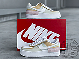 Женские кроссовки Nike Air Force 1 Shadow Spruce Aura White Beige Rose CK3172-002, фото 7