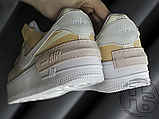 Женские кроссовки Nike Air Force 1 Shadow Spruce Aura White Beige Rose CK3172-002, фото 9