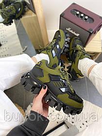 Женские кроссовки Prada Cloudbust Thunder Green Black 2EG293_3KZU_F0P80