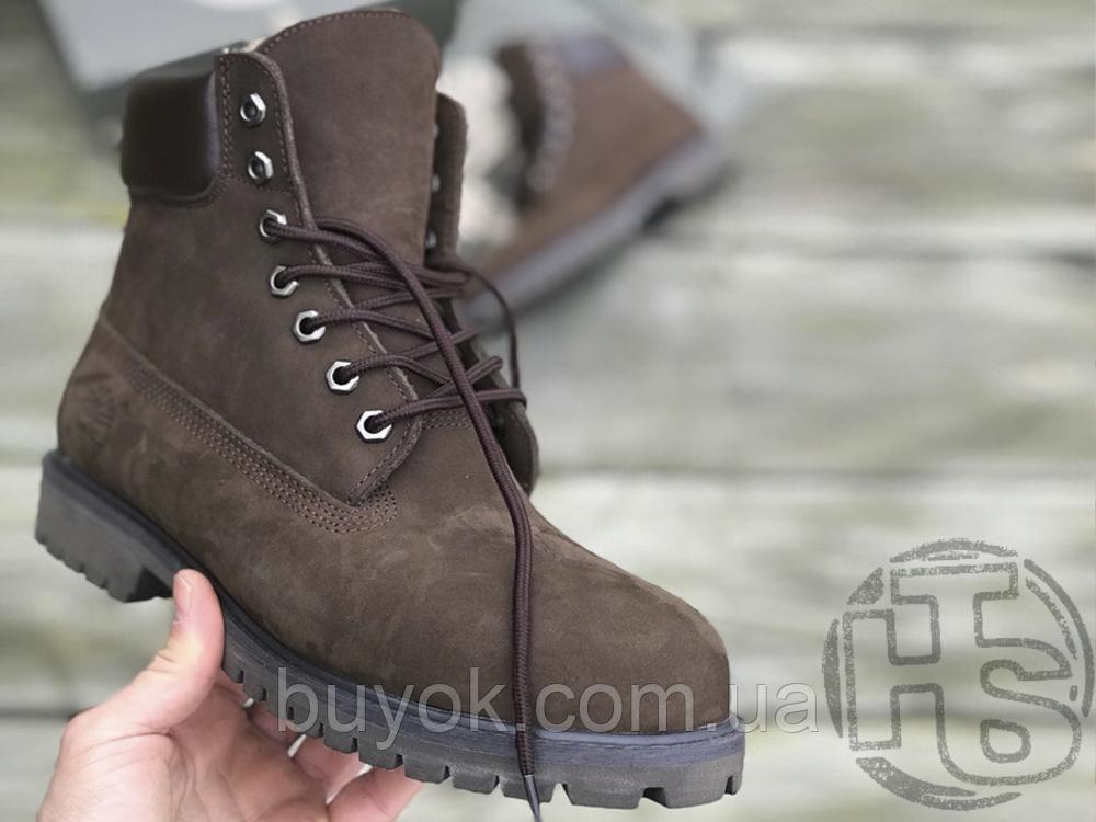 Чоловічі черевики Timberland 6-Inch Premium Boot Brown (з хутром)