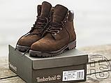 Чоловічі черевики Timberland 6-Inch Premium Boot Brown (з хутром), фото 3