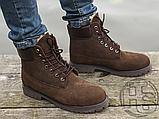 Чоловічі черевики Timberland 6-Inch Premium Boot Brown (з хутром), фото 4