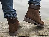 Чоловічі черевики Timberland 6-Inch Premium Boot Brown (з хутром), фото 5