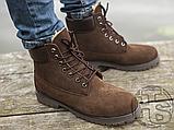 Чоловічі черевики Timberland 6-Inch Premium Boot Brown (з хутром), фото 8