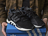 Мужские кроссовки Adidas EQT Support 91/18 Black White B37520, фото 5