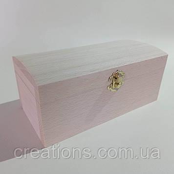 Дерев'яна заготовка для декупажу скринька 21х10.5х9 см з оксамитом
