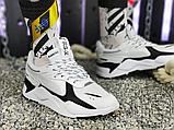 Мужские кроссовки Puma RS-X Core Black White 369666-01, фото 4