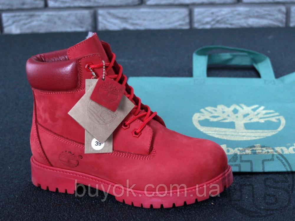 Жіночі черевики Timberland Classic Boots Bordo Winter (з хутром)