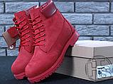 Жіночі черевики Timberland Classic Boots Bordo Winter (з хутром), фото 5