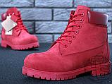 Жіночі черевики Timberland Classic Boots Bordo Winter (з хутром), фото 7