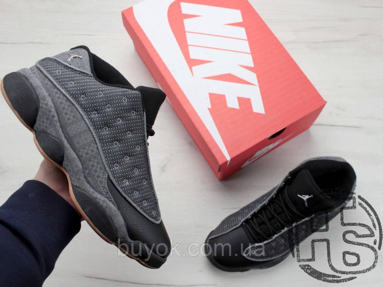 Мужские кроссовки Air Jordan 13 XIII Low Retro Quai 54 Black/Dark Grey/White/Chrome 810551-050