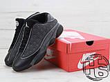 Мужские кроссовки Air Jordan 13 XIII Low Retro Quai 54 Black/Dark Grey/White/Chrome 810551-050, фото 2