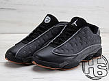 Мужские кроссовки Air Jordan 13 XIII Low Retro Quai 54 Black/Dark Grey/White/Chrome 810551-050, фото 3