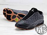 Мужские кроссовки Air Jordan 13 XIII Low Retro Quai 54 Black/Dark Grey/White/Chrome 810551-050, фото 5