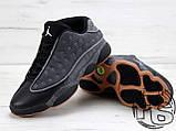 Мужские кроссовки Air Jordan 13 XIII Low Retro Quai 54 Black/Dark Grey/White/Chrome 810551-050, фото 6