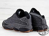 Мужские кроссовки Air Jordan 13 XIII Low Retro Quai 54 Black/Dark Grey/White/Chrome 810551-050, фото 7