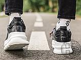Чоловічі кросівки Versace Chain Reaction 2 Chainz Black White DSU7071 D9TVG, фото 2