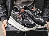 Чоловічі кросівки Versace Chain Reaction 2 Chainz Black White DSU7071 D9TVG, фото 4