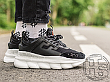 Чоловічі кросівки Versace Chain Reaction 2 Chainz Black White DSU7071 D9TVG, фото 5