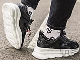 Чоловічі кросівки Versace Chain Reaction 2 Chainz Black White DSU7071 D9TVG, фото 6