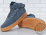 Чоловічі кросівки Nike Air Force 1 High Gray Gum (з хутром) 749263-001, фото 4