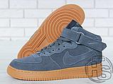 Чоловічі кросівки Nike Air Force 1 High Gray Gum (з хутром) 749263-001, фото 5