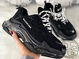 Жіночі кросівки Balenciaga Triple S Clear Sole Black 541624W09O11000, фото 5