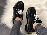 Жіночі кросівки Balenciaga Triple S Clear Sole Black 541624W09O11000, фото 6