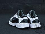 Чоловічі кросівки Adidas Yung-1 White Grey Black, фото 2
