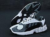Чоловічі кросівки Adidas Yung-1 White Grey Black, фото 3