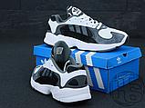 Чоловічі кросівки Adidas Yung-1 White Grey Black, фото 4
