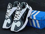 Чоловічі кросівки Adidas Yung-1 White Grey Black, фото 5