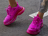 Жіночі кросівки Balenciaga Triple S Clear Sole Dark Pink 544351W2FG15059, фото 2