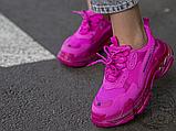 Жіночі кросівки Balenciaga Triple S Clear Sole Dark Pink 544351W2FG15059, фото 3